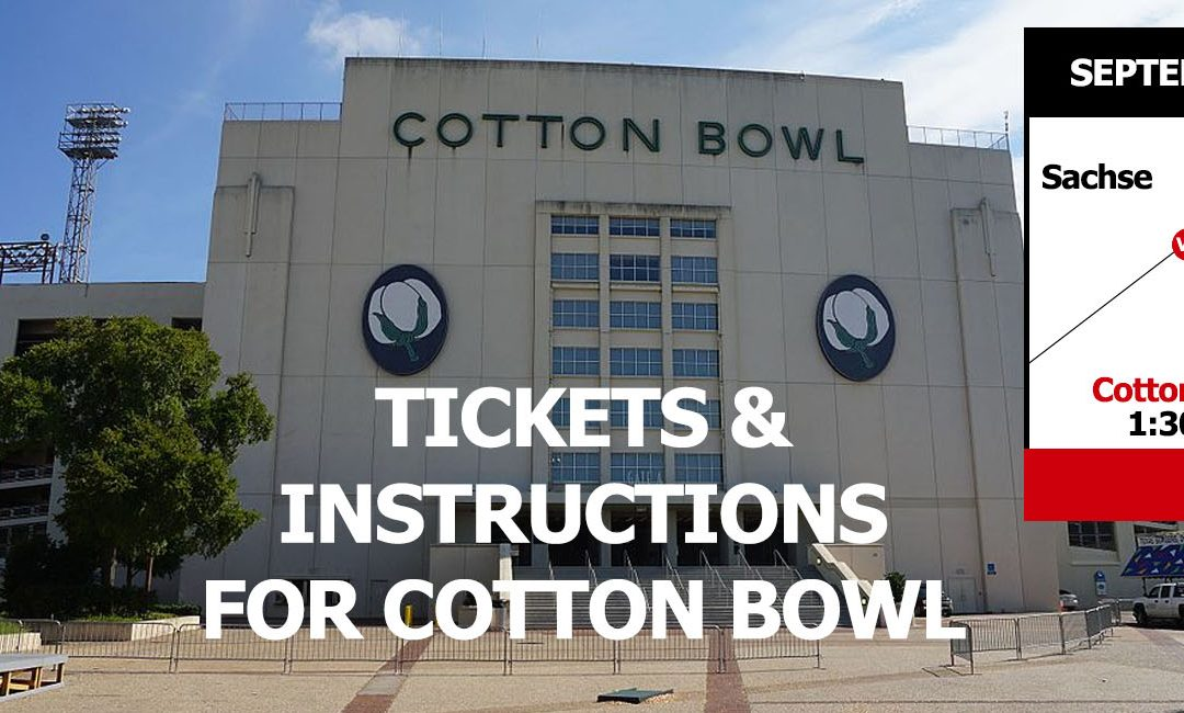 Details on Trinity vs Sachse 09/08/2018 Cotton Bowl