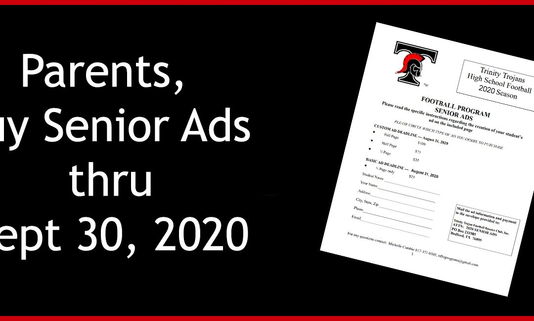 Time to Buy Your 2020 Senior Ads